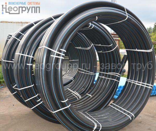 Труба ПНД 110 (8,1) вода ПЭ100 SDR13.6 от завода труб НеоГрупп