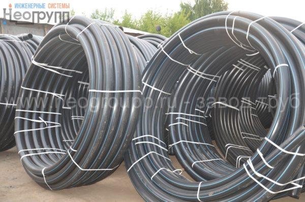 Труба ПНД 90 (8,2) вода ПЭ100 SDR11 от завода труб НеоГрупп