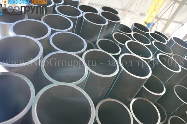Труба ПНД 140 (5.4) вода отрезкиТруба ПНД 140 (5.4) вода отрезки