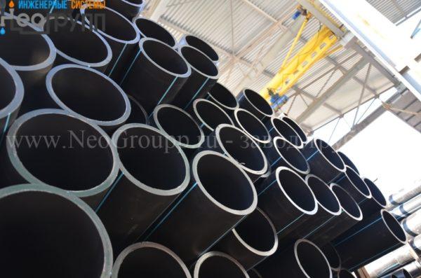 Труба ПНД 160 (14,6) вода отрезки ПЭ100 SDR11 c завода НеоГрупп