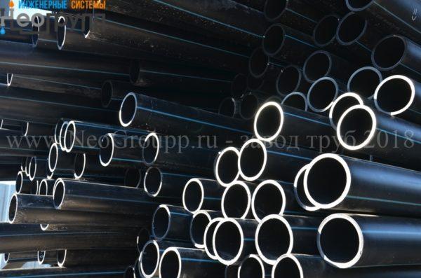Труба ПНД 200 (18,2) вода отрезки ПЭ100 SDR11 с завода НеоГрупп