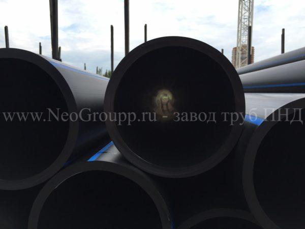 Труба ПНД 110 (6,6) вода отрезки ПЭ100 SDR17 от завода НеоГрупп