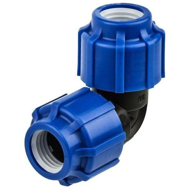 Отвод компрессионный 40х90° для пнд труб