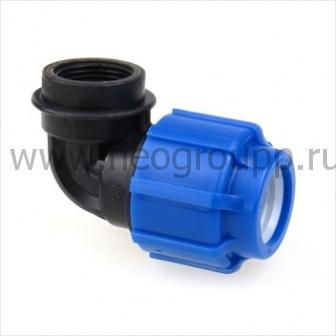 Отвод компрессионный с внутренней резьбой 50*1 1/4 полипропилен