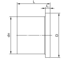 Втулка под фланец удлиненная SDR11 SDR17 250 чертеж