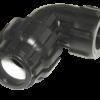 Отвод компрессионный с внутренней резьбой 90*3