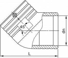 Отвод электросварной SDR11 160 схема