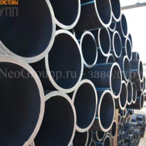 Труба ПНД 225 (10,8) вода отрезки ПЭ100 SDR21 от завода НеоГрупп