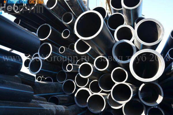 Труба ПНД 250 (9,6) вода отрезки