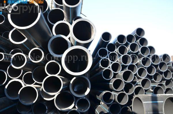 Труба ПНД 250 (14,8) вода отрезки ПЭ100 SDR17 с завода НеоГрупп