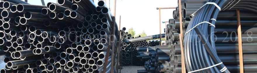 Склад полиэтиленовой трубы ПНД разных диаметров в бухтах в отрезках в Тульской области 2018
