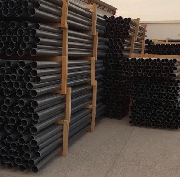 Напорные трубы нПВХ клеевые D225мм.