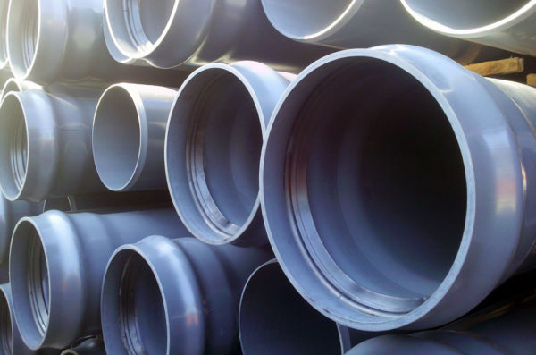Напорные трубы нПВХ с раструбом с резиновым кольцом D500мм.