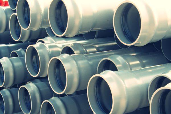 Напорные трубы нПВХ с раструбом с резиновым кольцом D225мм.