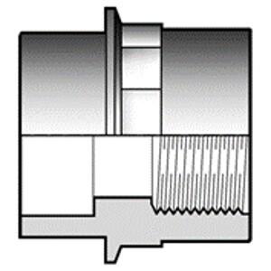 Двойной адаптер ПВХ с ВР чертеж