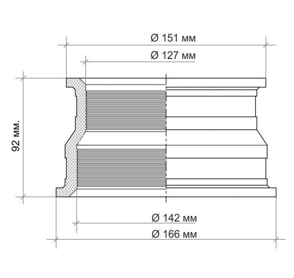 Муфта герметизации кессона 120-140мм. чертеж 1