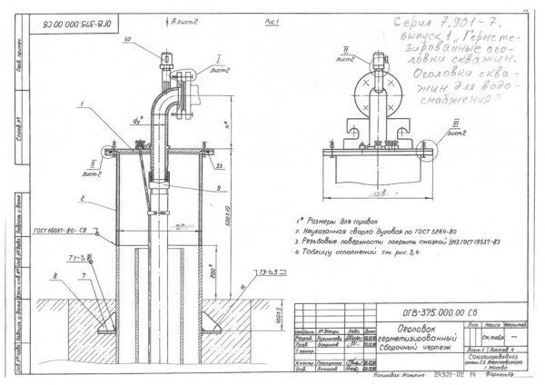 Промышленные оголовки для скважин ОГВ-375.000 (2)