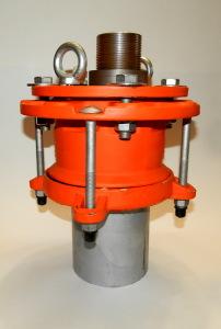 Оголовок скважинный обжимной герметичный с проходной муфтой под полиэтиленовые трубы большого диаметра ОГВ-375.000.00-6