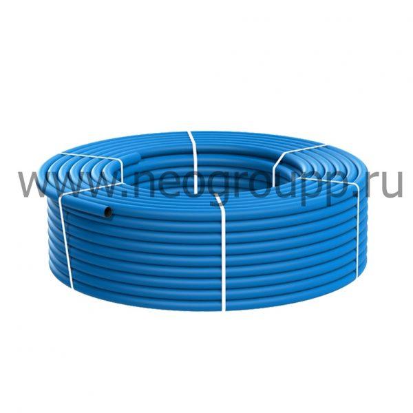 Труба ПНД водоподъемная 50(4.6) голубая бухты по 100 или 200м