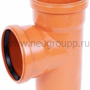 тройник ПВХ 90 градусов для наружной канализации