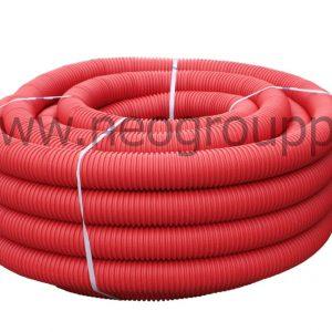 Труба защитная двустенная красная
