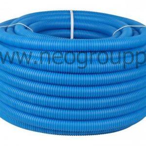 Труба защитная двустенная синяя