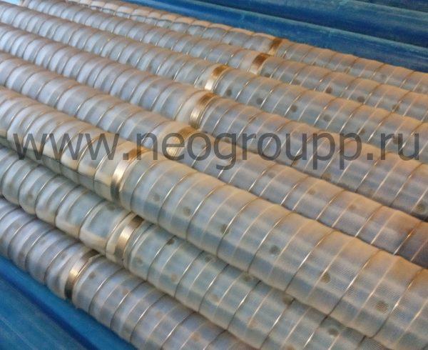 фильтр нПВХ110(4.0, 5.0) 3000мм с полимерной сеткой галунного плетения
