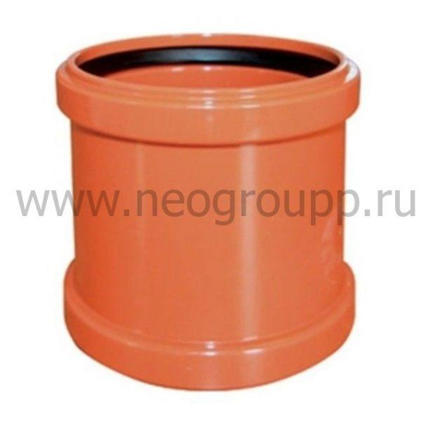 муфта двухраструбная полипропилен для внешней канализации
