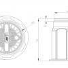 Пластиковый колодец КС-1 для связи чертеж