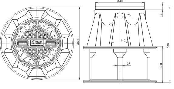 Пластиковый колодец КС-2.2 для связи