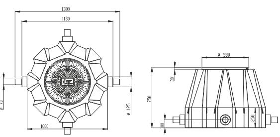 Пластиковый колодец КС-3 для связи